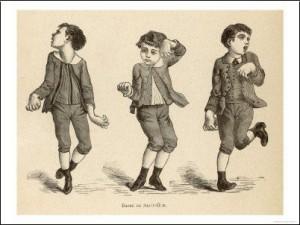 danse de saint guy sur un enfant chétif