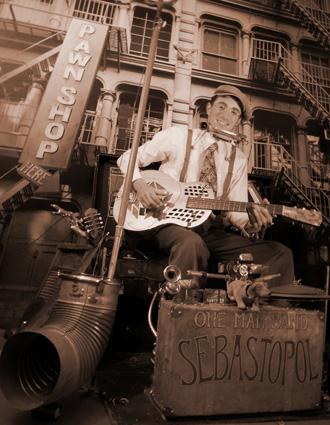 Sebastopol, homme-orchestre et bluesman