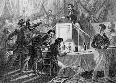 """""""Dès 1848, les Français bouffent en faisant la révolution."""" Le banquet du Château-Rouge."""