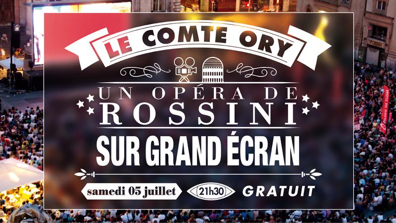 """Flyer """"Comte Ory"""" sam5jui Opéra Lyon Terreaux"""